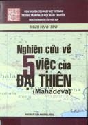 Nghiên cứu về 5 việc của Đại Thiên (Mahàdeva)