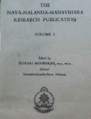The Nava-Nalanda-Mahavihara Research Publication Vol. I