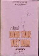 Tiểu sử danh Tăng Việt Nam - thế kỷ XX tập 2